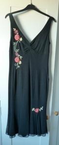 black dress on door